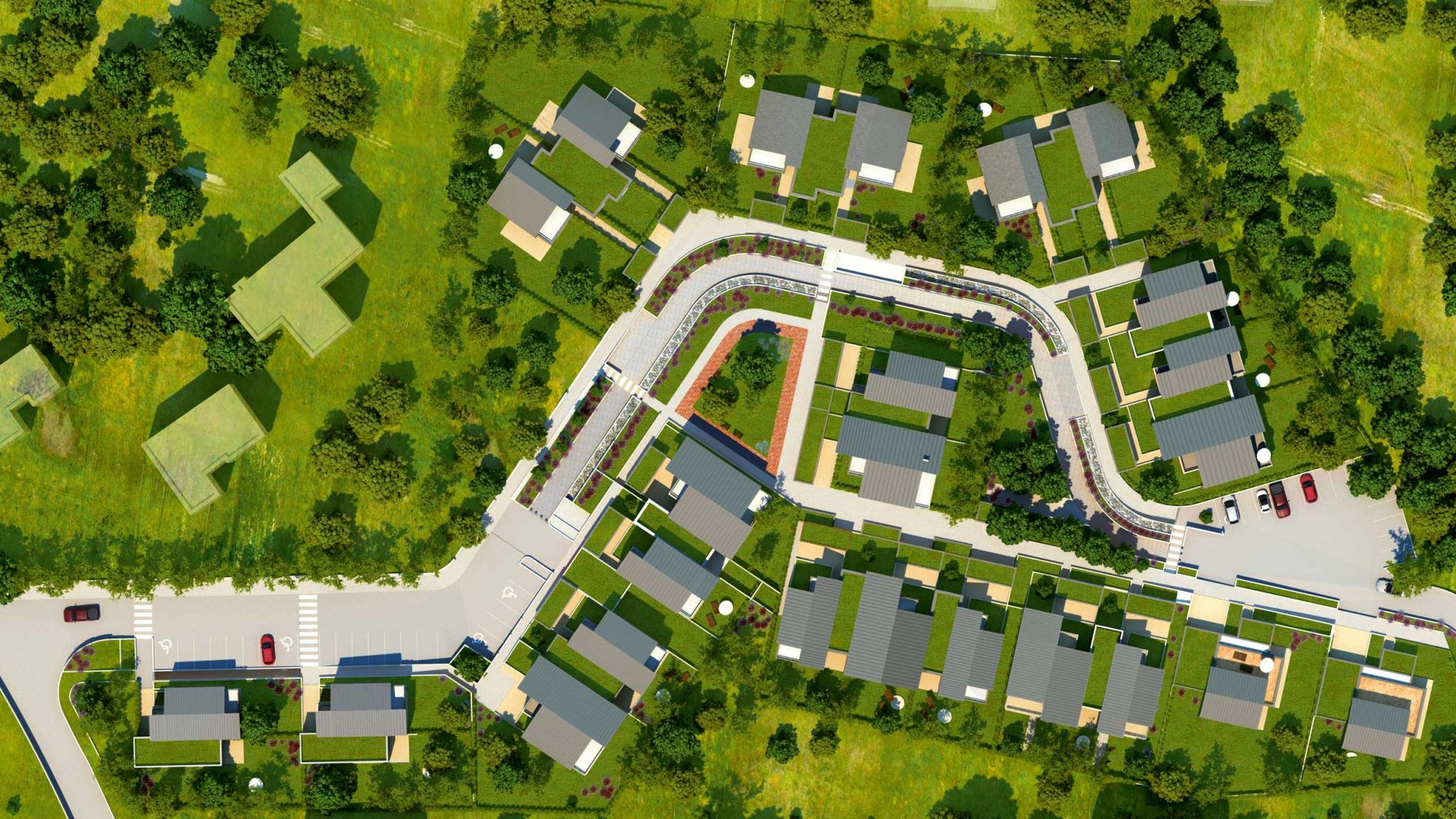 Ce programme immobilier neuf à la campagne, proche Genève
