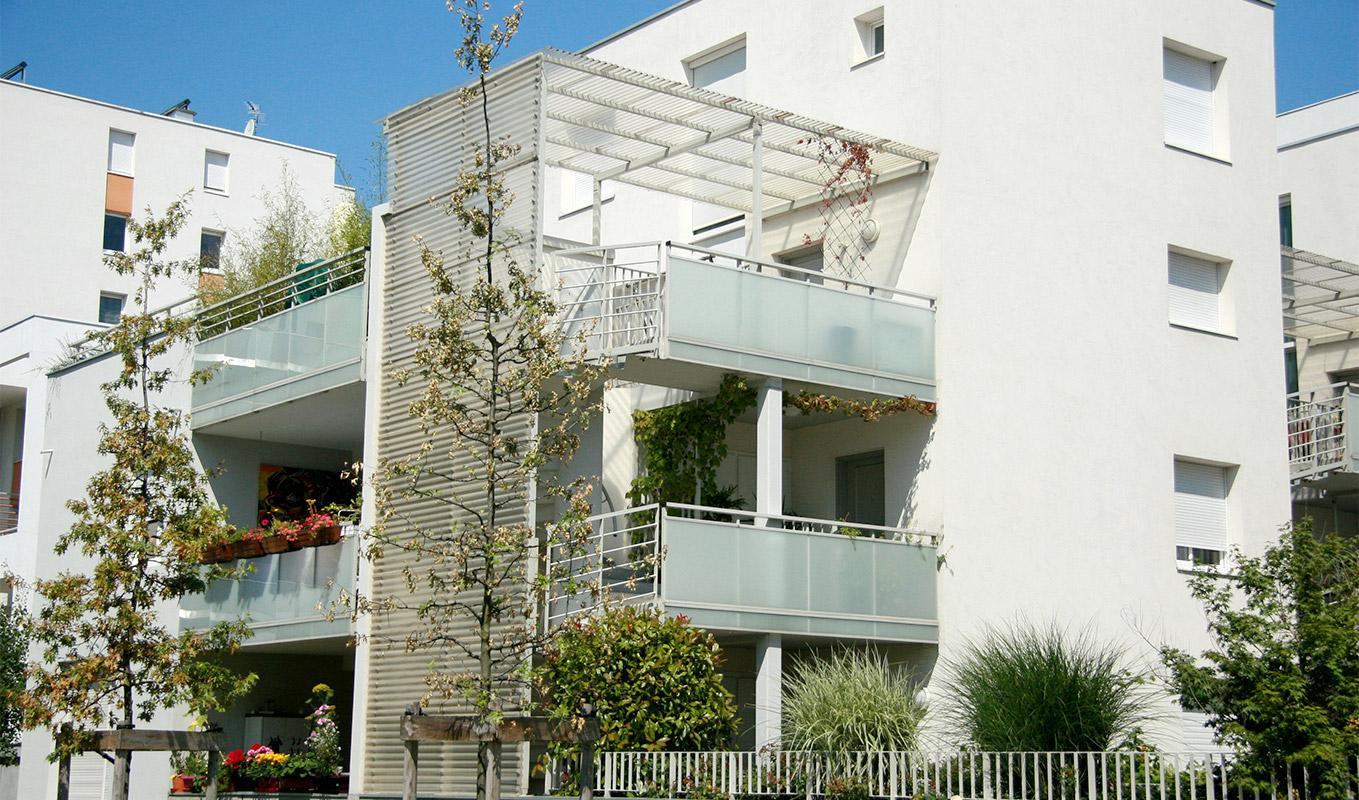 Un projet immobilier de résidence, à Grenoble.