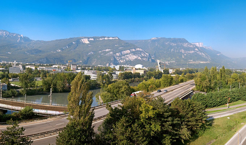 Grenoble vu des bureaux du Phare