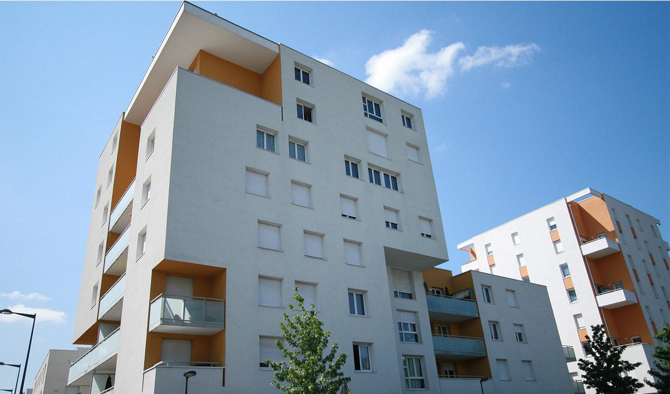 Un projet de résidence neuve, à Grenoble.
