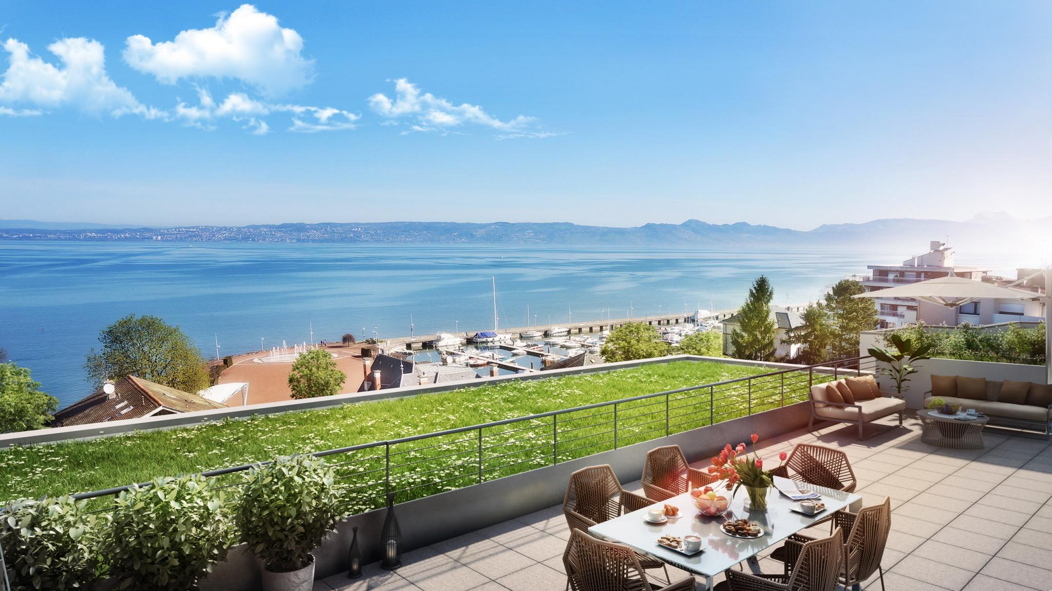 A Évian un programme immobilier neuf avec vue sur le lac