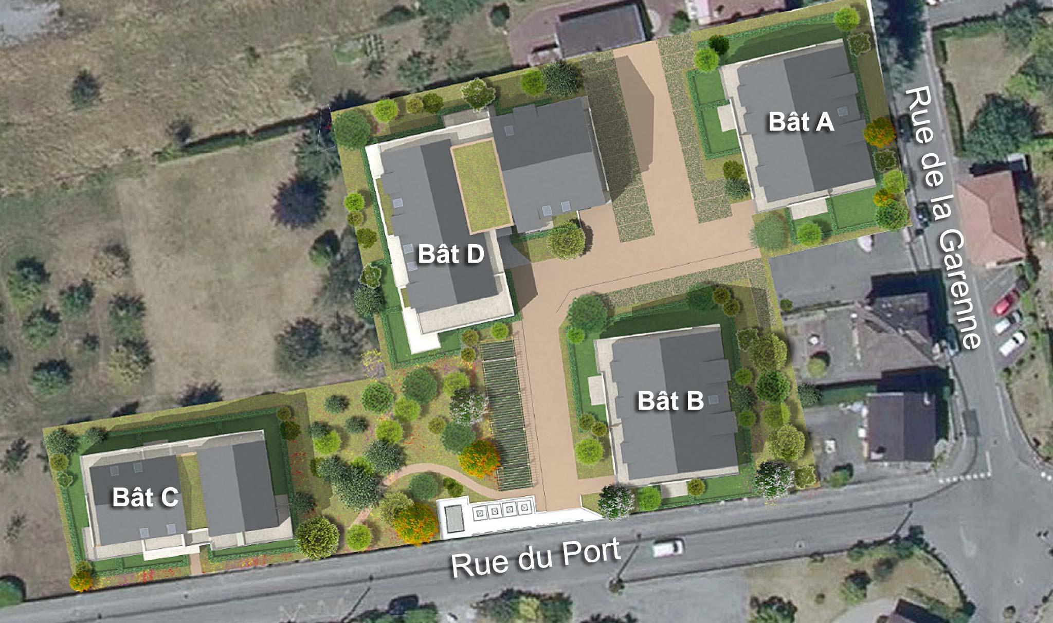 plan masse appartements neuf publier-amphion