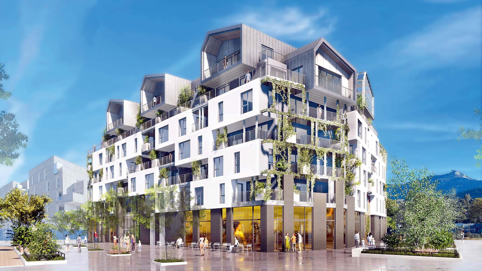 À Chambéry nouvel éco-quartier neuf